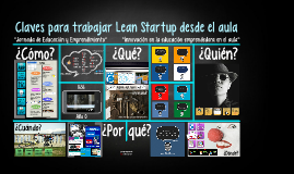 Claves para trabajar Lean Startup desde el aula