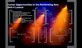 Unit 4: Employment Opportunities in the Performing Arts