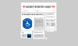 ACCESSIBILITY FOR DISABILITY