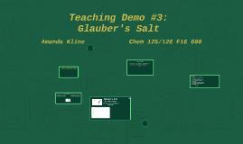 Teaching Demo #3: