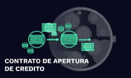 CONTRATO DE APERTURA DE CREDITO