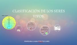CLASIFICACIÓN DE LOS SERES VIVOS.