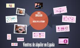 Vientres de alquiler en España