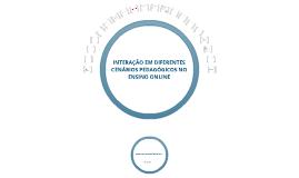 INTERAÇÃO EM DIFERENTES CENÁRIOS PEDAGÓGICOS NO ENSINO ONLINE