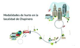 Modalidades de hurto en la localidad de Chapinero