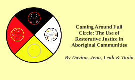 Copy of Restorative Justice in Aboriginal Communities