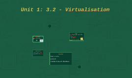 Unit 1: 3.2 - Virtualisation