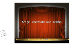 Stage Directions and Terms