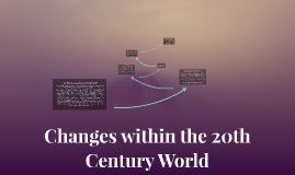 Changes within the 20th Century World