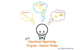 EOP Summer Bridge 2015 Welcome