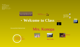 Teacher Welcome/Introduction