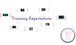 Copy of Training Expectations