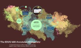 The EDUU 600 Annotated Biblography
