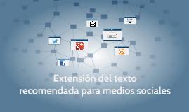 Extensión recomendara para los medios sociales