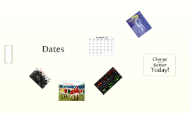 Dates! Not the fruit, those things on calendars...