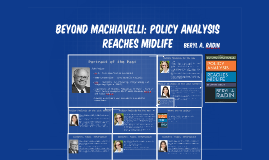 Beyond Machiavelli: Policy Analysis Reaches Midlife