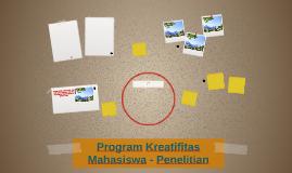 Program Kreatifitas Mahasiswa - Penelitian