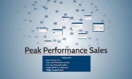 Peak Performance Sales