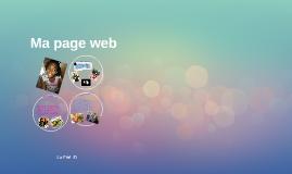 Ma page web
