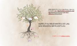 ASPECTOS RELEVANTES DE LAS SOCIEDADES MERCANTILES
