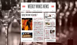 WEEKLY WINES NEWS