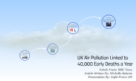 UK Air Pollution Linked to 40,000 Early Deaths a Year