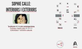 Sophie Calle: interiors i exteriors