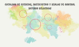 Catalogo de Cuentas, instructivo y reglas de control interno