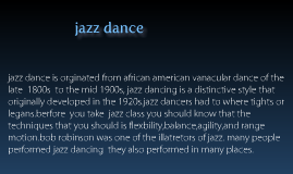 Copy of jazz dance