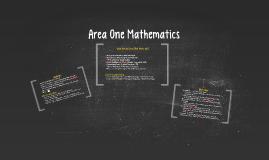 Area One Mathematics