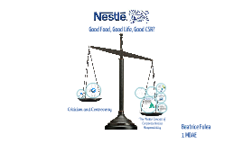 Nestle's Corporate Social Responsibility