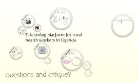 E-learning platform for rural health workers in Uganda