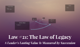 Law #21: The Law of Legacy