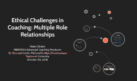 Ethical Challenges in Coaching: Multiple Role Relationships