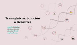 Copy of Transgénicos: Solución o Desastre?