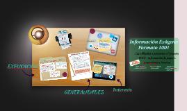 Información Exogena  Formuelario 1001