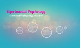 Psychology 30: Final Project