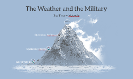 The Weather and the Military