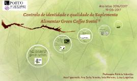 Controlo de identidade e qualidade do Suplemento Alimentar G