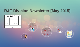 R&T Division Newsletter (May 2015)