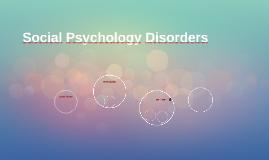Social Psychology Disorders