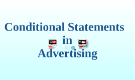 Conditional Statement: Commerical