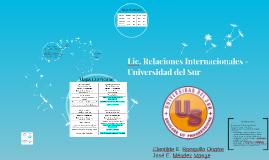 Lic. Relaciones Internacionales