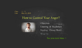 How to control your anger?