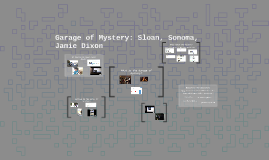 Garage of Mystery: Sloan, Sonoma, Jamie Dixon