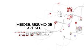 MEIOSE, RESUMO DE ARTIGO