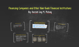 Financing Companies and Other Non-Bank Financial Institution