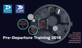 Pre-Departure Training 2018