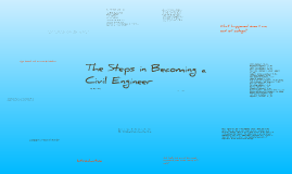 The Steps in Becoming a Civil Engineer