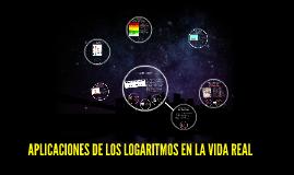 Copy of APLICACIONES DE LOS LOGARITMOS EN LA VIDA REAL